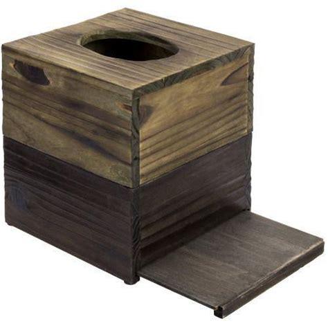 dual tone barn wood tissue box cover mygift