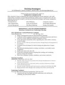 Special Events Assistant Sle Resume by Marketing Coordinator Resume