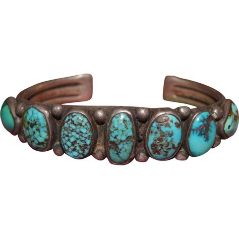 1950 s bisbee turquoise navajo bracelet from