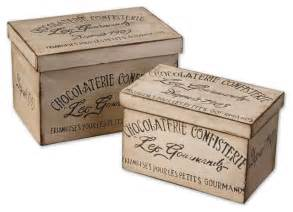 chocolaterie decorative boxes set of 2 traditional