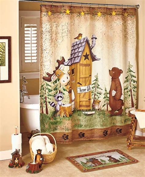 adirondack bathroom decor in the woods nature calls bathroom collection fun lodge
