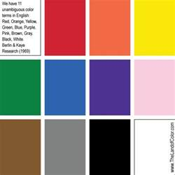 list of basic colors thelandofcolor