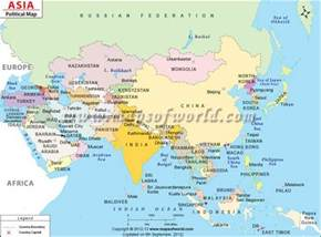 Map Of Countries In Asia by Asia Map Depicting International Boundaries Of Asian
