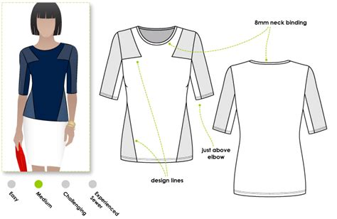 pattern review style arc stylearc tamara knit top