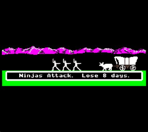 Oregon Trail Meme - oregon trail memes ninjas attack lose 8 days games
