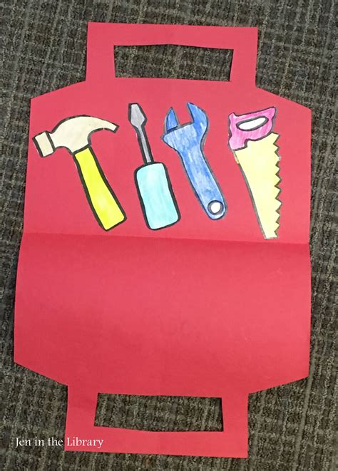 s day tool box card template construction and tools storybox jen in the library
