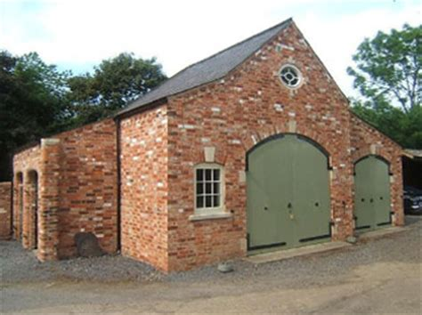 Shed Style Homes brick barn newbuild project michael tongue building