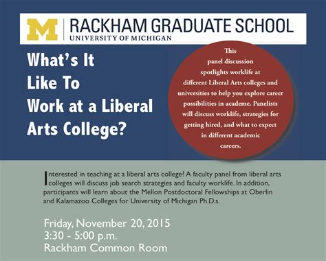 Liberal Arts Grad Mba by Liberal Arts College Faculty Panel Rackham Student