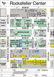 center map rockefeller center rockefeller plaza manhattan ny
