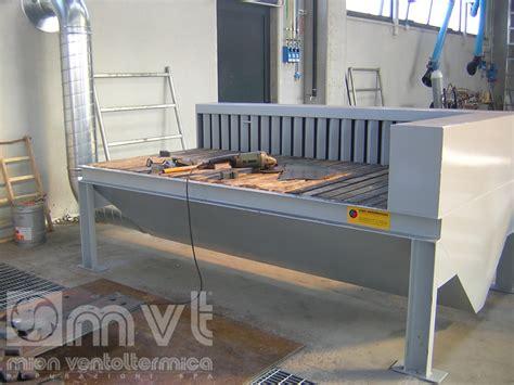 banchi aspiranti banco aspirante per smerigliatura e molatura industriale