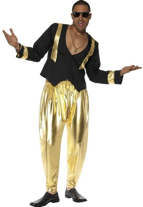 90S Rapper Fancy Dress Costume Mens Size 38 40 S