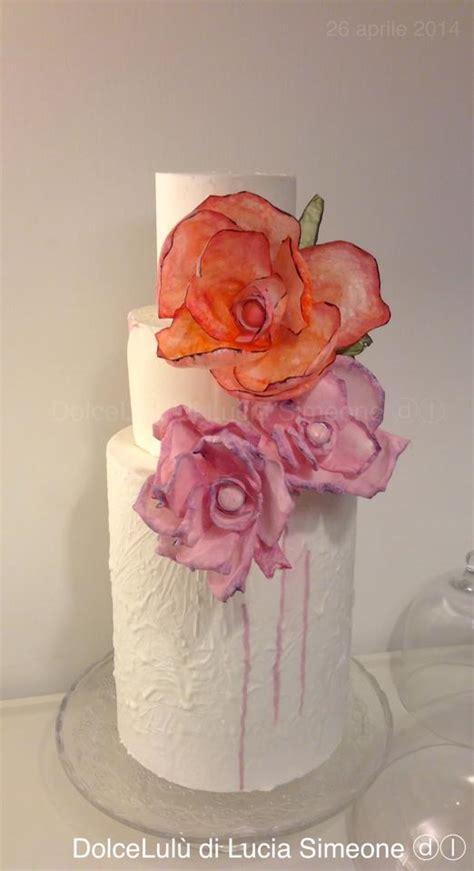 fiori di ostia per torte fiori in wafer paper e torta 169 lucia simeone