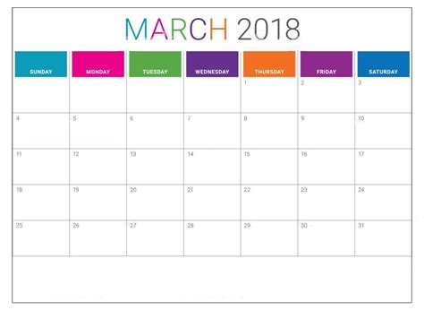 march 2018 desktop calendar calendar 2018