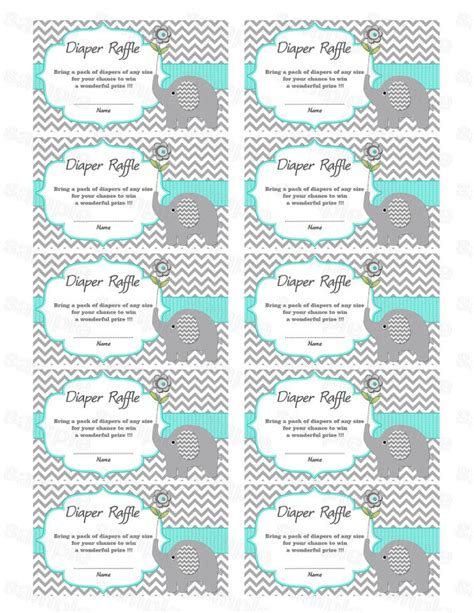 free printable baby shower raffle tickets template raffle free template new calendar