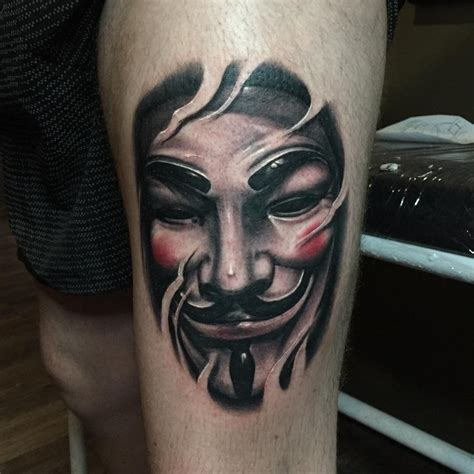 v for vendetta tattoo v for vendetta mask fawkes by jacques
