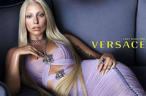 lady gaga for versace without make up