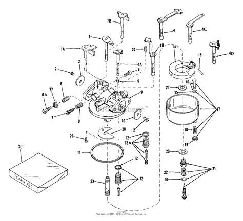 tecumseh engine carburetor diagram tecumseh ca 630917 parts diagram for carburetor