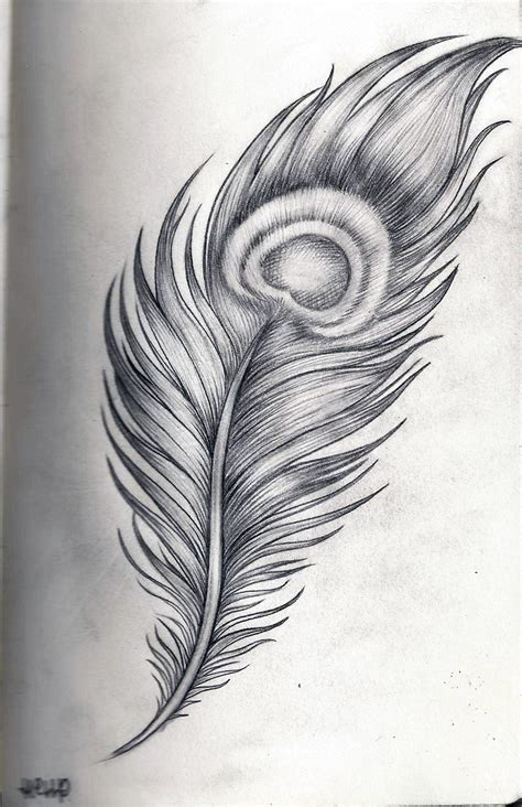 tattoo feather sketch hell p art peacock feather by hell2thep on deviantart