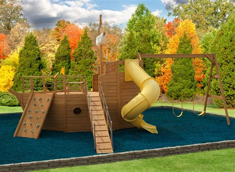wooden boat swing set play mor 912 high seas explorer yacht wooden swing sets