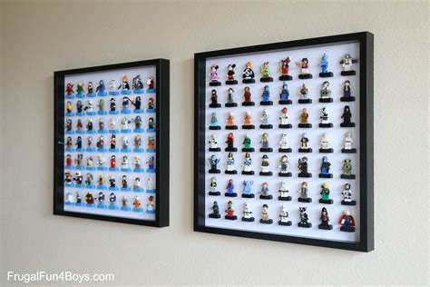 figure wall display ikea frame lego minifigure display and storage