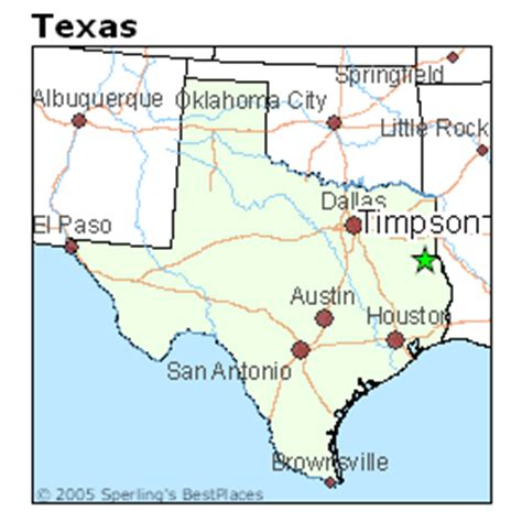 places    timpson texas