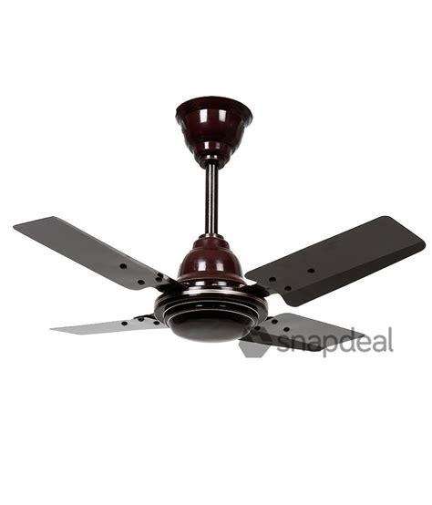 high speed ceiling fan sameer 24 gati high speed ceilingfan brown price in india