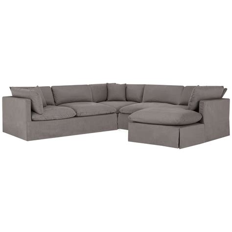 gray fabric sectional with chaise city furniture raegan gray fabric small right chaise