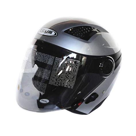 Zeus Helm Zs 610 Dsil jual zeus zs 610 helm half silver harga