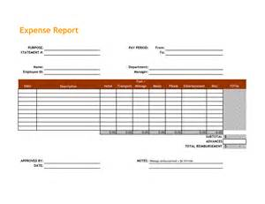 excel expense report template best photos of standard expense report template expense