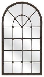 Ideas Design For Arched Window Mirror Mirrors For The Wall Window Pane Decor Arched Window Pane Wall Mirror Interior Designs