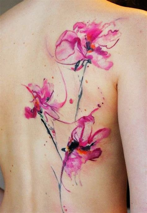 65 examples of watercolor tattoo watercolor flower tattoo