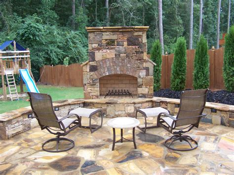 Outdoor Fireplace Patio by Flagstone Outdoor Fireplace