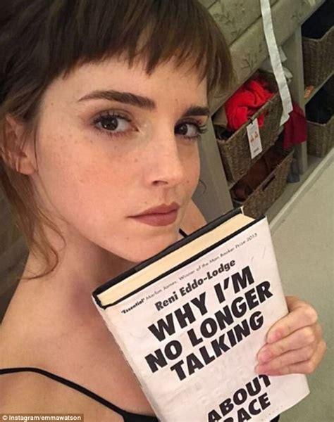 emma watson selfie emma watson debuts edgy short fringe daily mail online