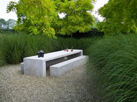 concrete garden table and benches 31 alluring picnic table ideas