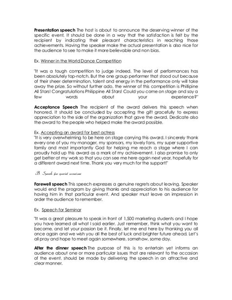 award speech template how to write a presentation speech for an award