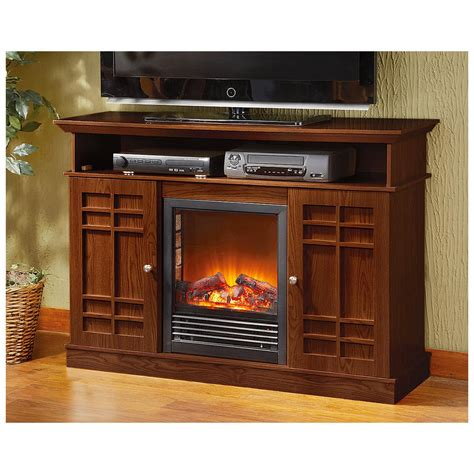 castlecreek media stand electric fireplace 227155