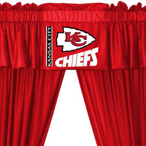 soccer curtains valance nfl kansas city chiefs football 5pc valance curtains set