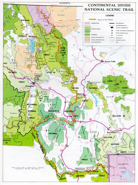 continental divide map continental divide montana map montana map