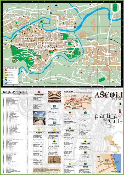 ascoli piceno tourist map