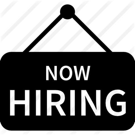 Free Is Hiring by Hiring Sign Free Business Icons
