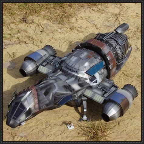 Serenity Papercraft - firefly firefly class transport spaceship serenity ver 3