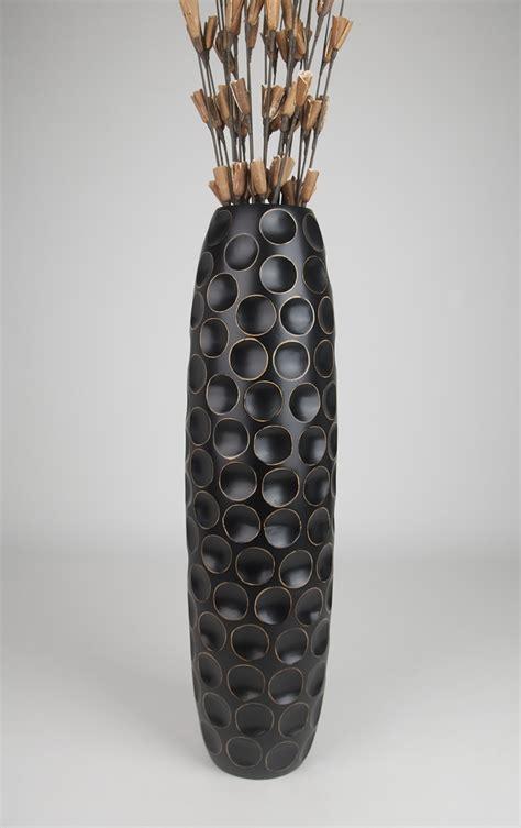 Big Black Floor Vases by Floor Vase 36 Inches Wood Black Ebay