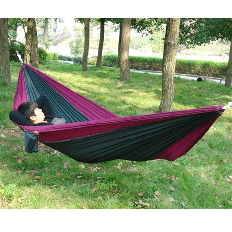 Portable Hammock For Two portable outdoor traveling cing fabric hammock for two person cing hammock parachute