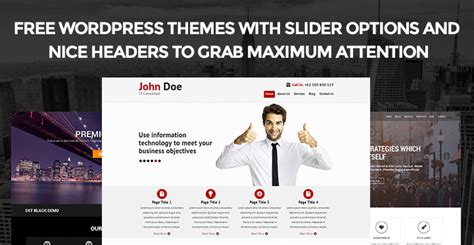 themes wordpress slideshow free generous free wordpress themes with slideshow pictures