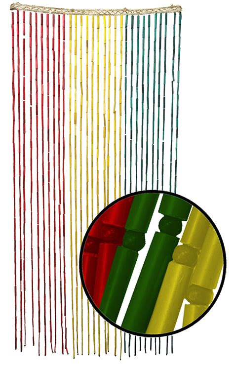 rasta door beaded curtains rasta beaded bamboo curtain