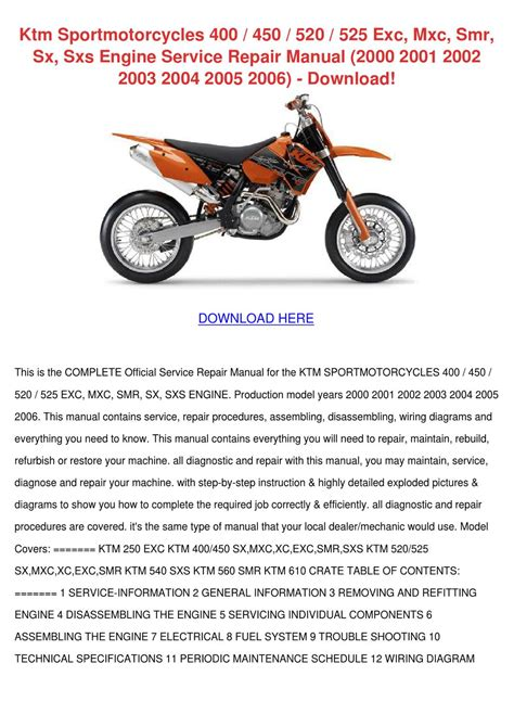 ktm 520 exc wiring diagram ktm 500 exc wiring diagram wiring diagram odicis ktm sportmotorcycles 400 450 520 525 exc mxc by giuseppedurr issuu