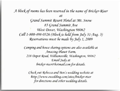 Wedding Accommodation Cards Free Wedding Accommodation Card Template