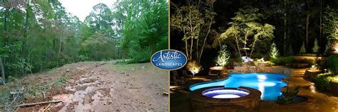 Backyard Systems Before And After Landscaping Work By Artistic Landscapes