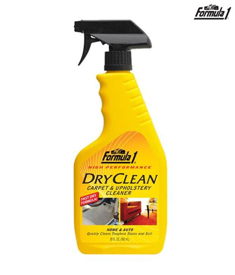 upholstery fabric cleaning products formula 1 dry clean carpet upholstery cleaner 592ml