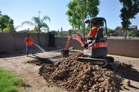 backyard excavation rp excavating helps build a pool for local veteran and his